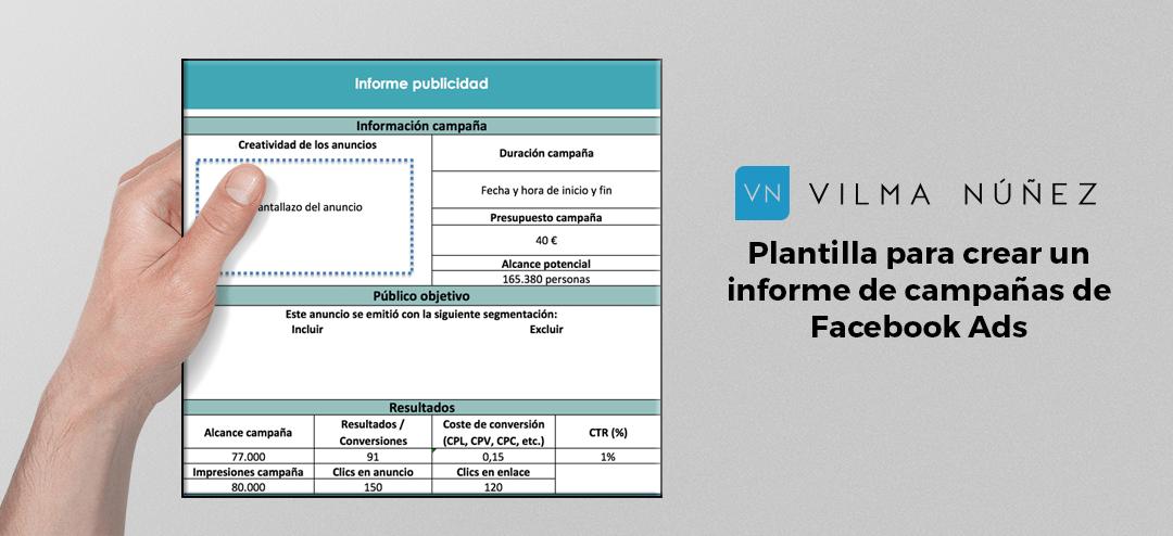 Plantilla Excel - Modelo de informe publicidad en Facebook