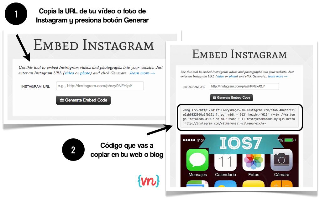 videos instagram como embeber mebeed