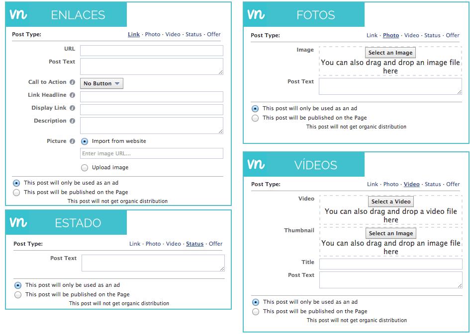 crear publicaciones llamadas a la accion facebook f
