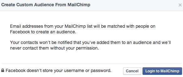 mailchimp audiencia fb