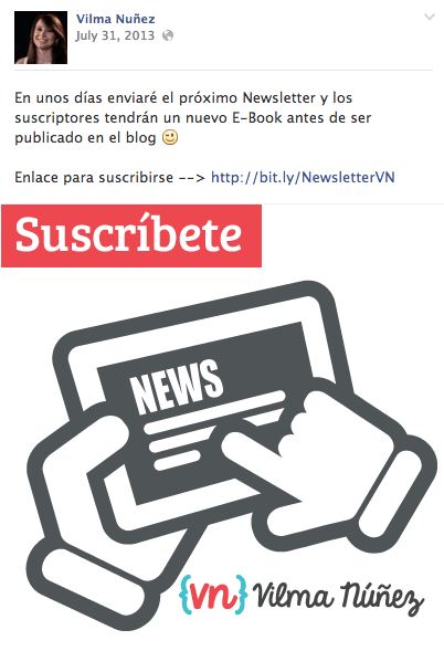 facebook newsletter