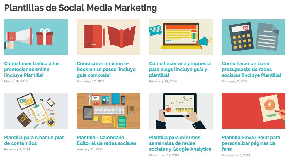 plantillas de social media marketing