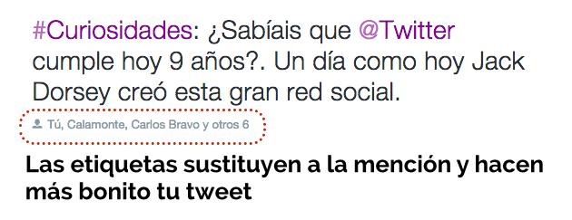 etiquetas twitter