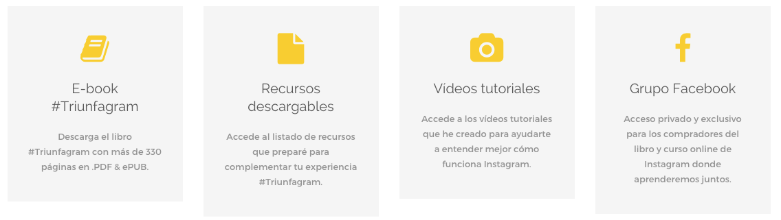 que incluye ebook triunfagram