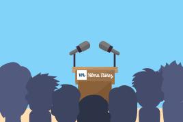 Speaker y profesora