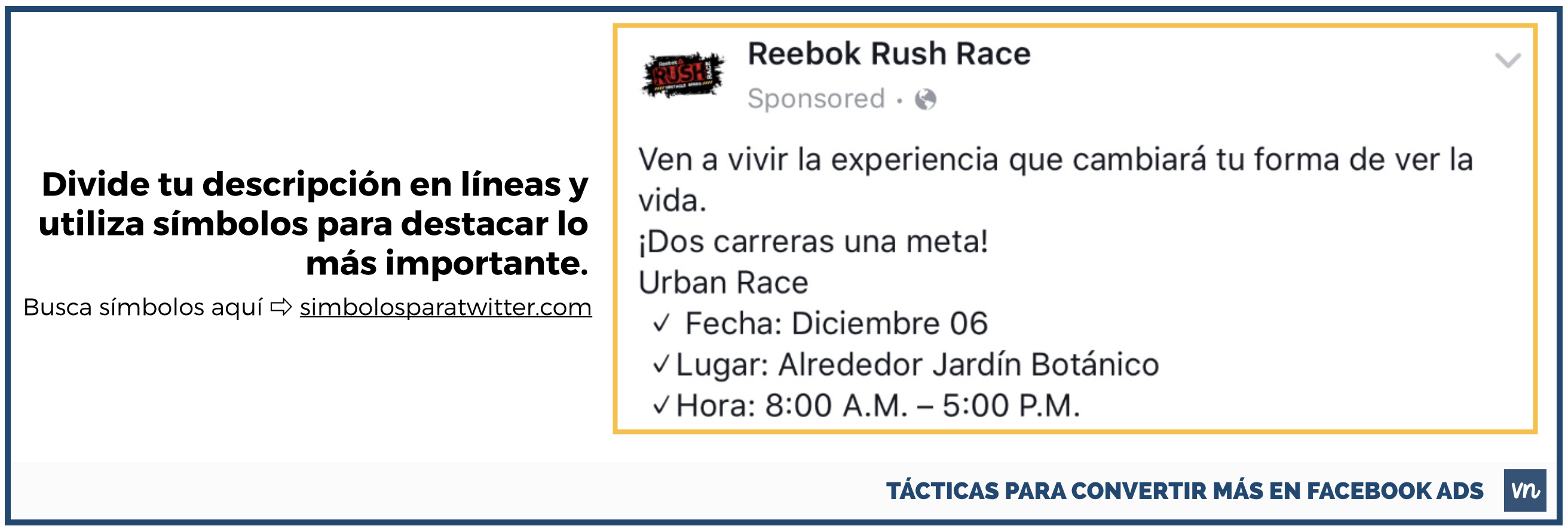tunea la descripcion anuncios facebook ads