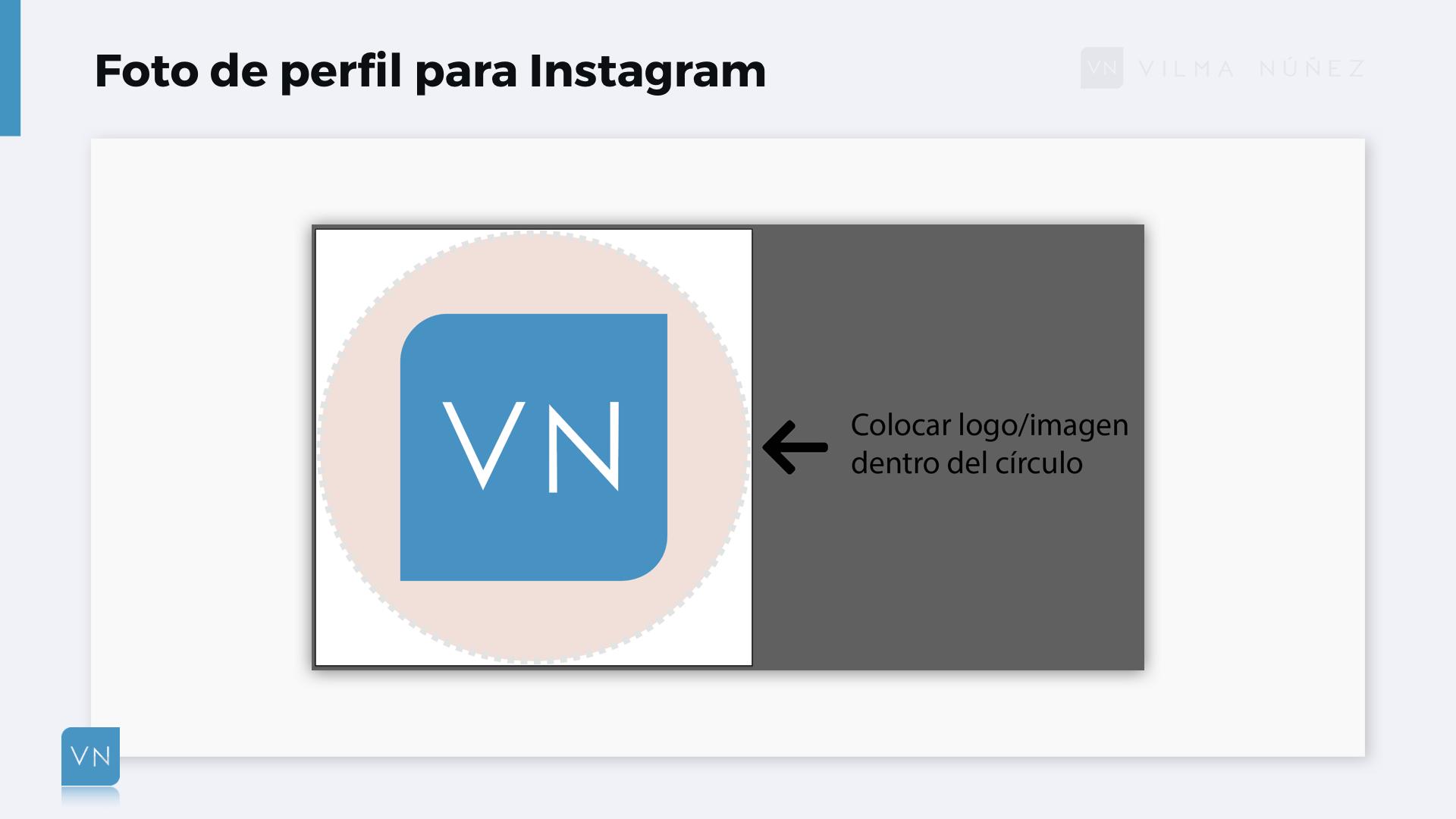 Ejemplo de cómo crear una foto de perfil para Instagram