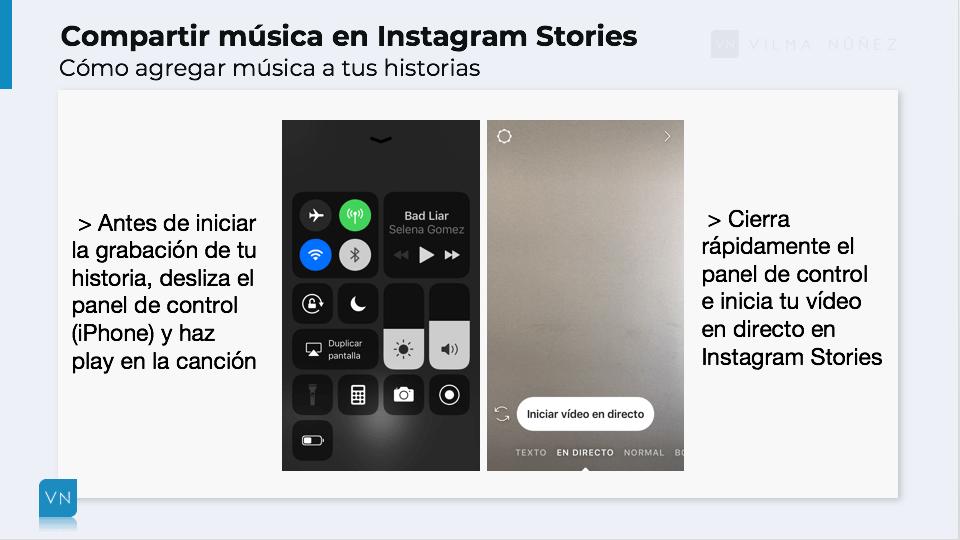 colocar música en los vídeos de Instagram