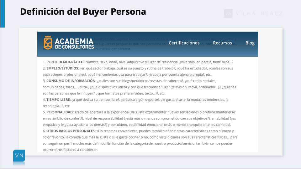 buyer persona instagram