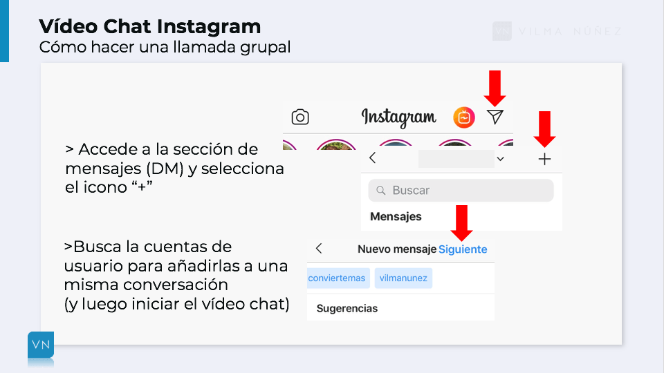 vídeo chat de instagram
