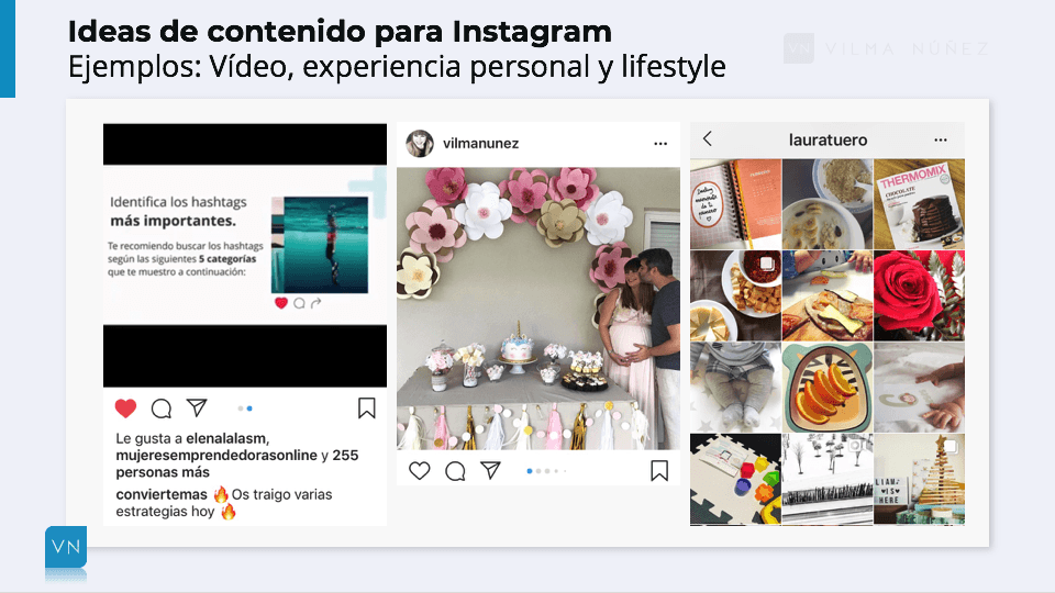 ideas para publicar en el feed de instagram