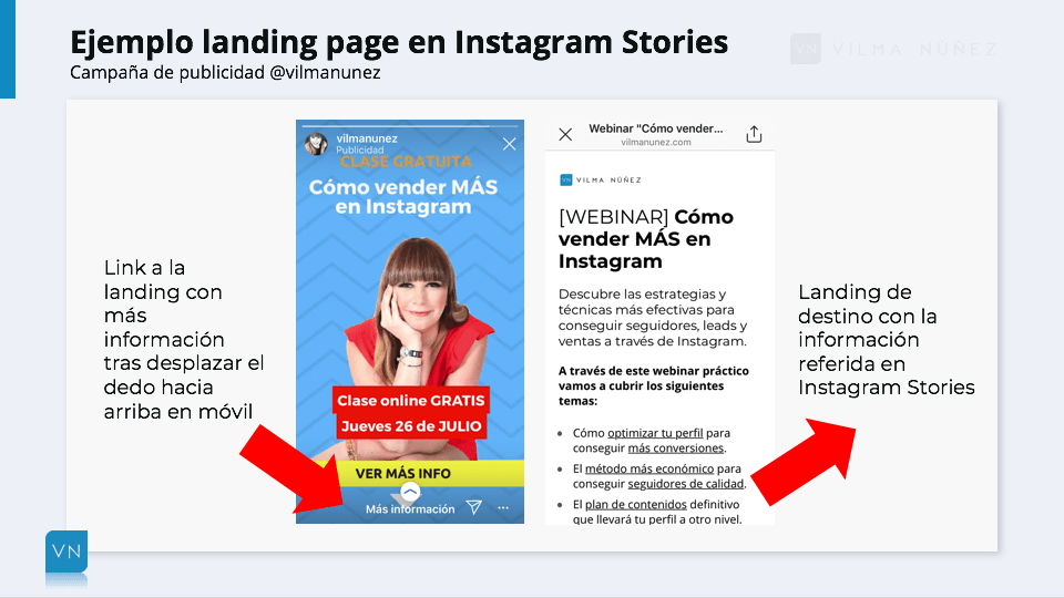 landing page leads instagram