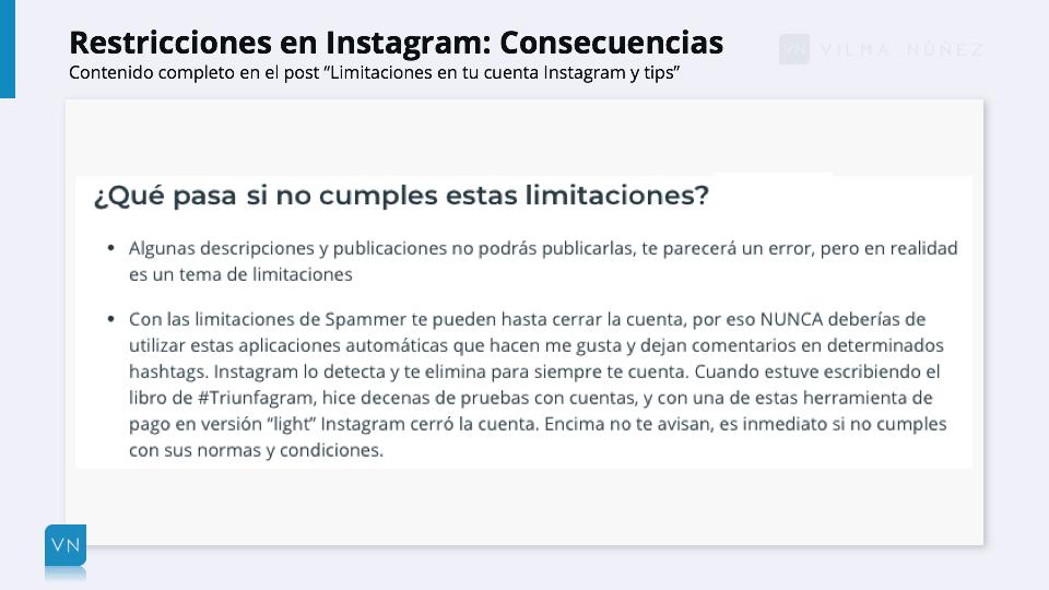 restricciones instagram