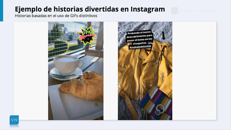 ejemplos de historias en Instagram con GIFs