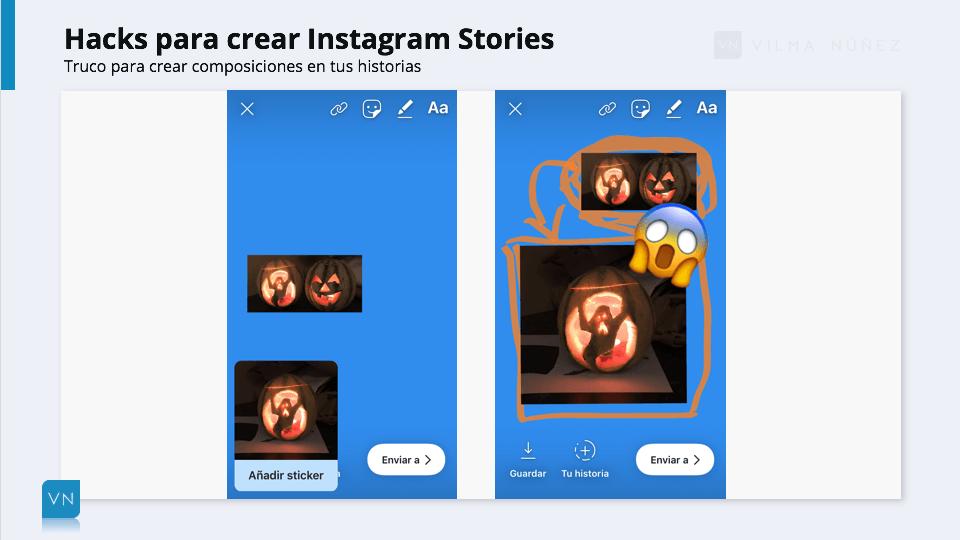 trucos en instagram stories composición