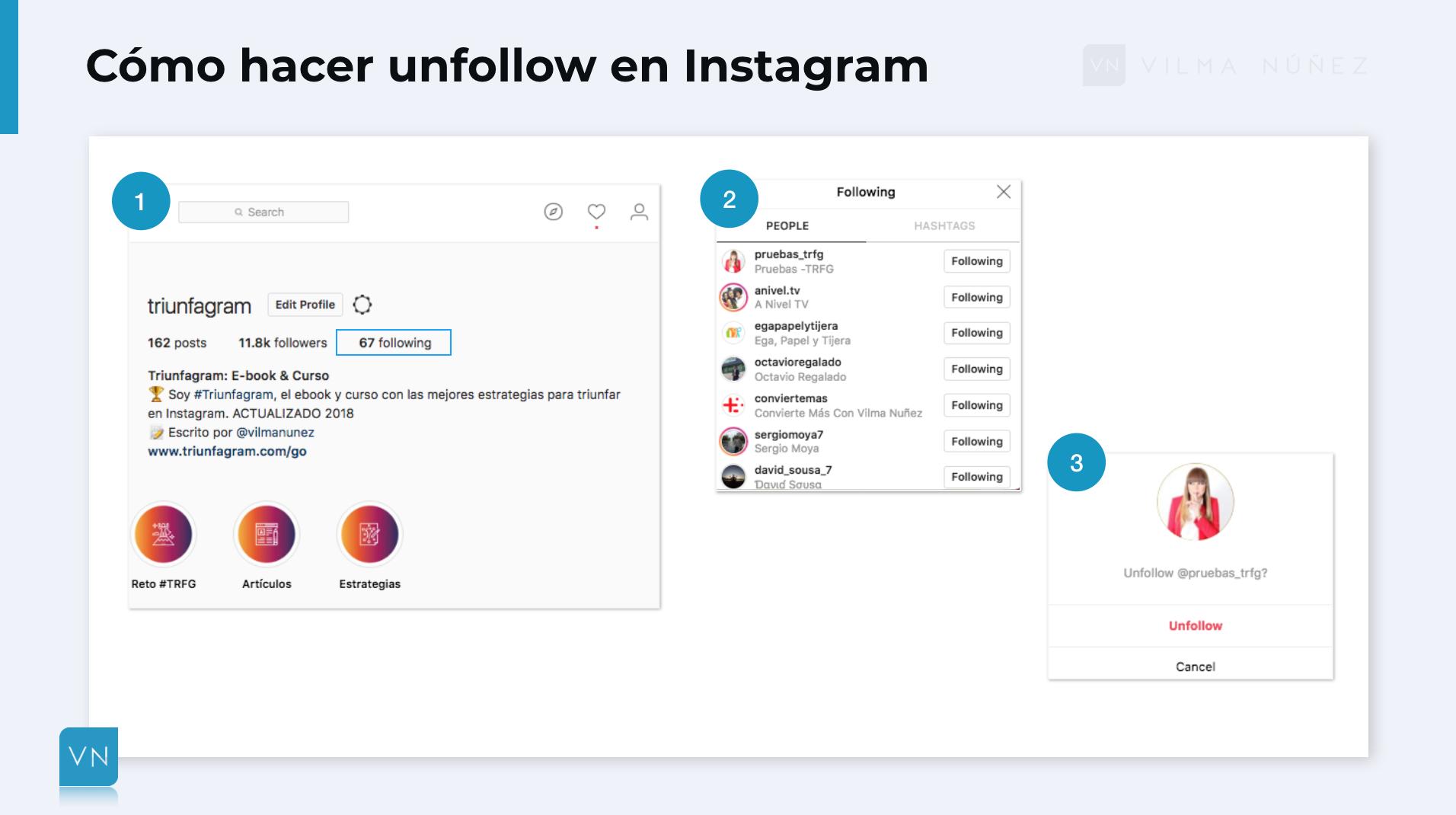 hacer unfollow en instagram paso a paso
