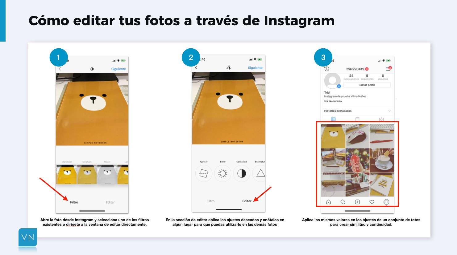 editar fotos para Instagram en la app