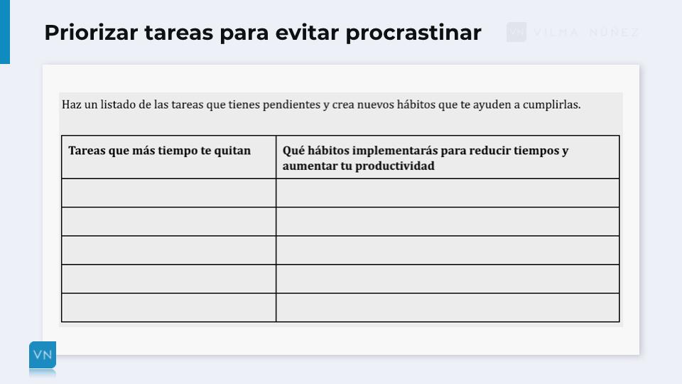 priorizar para evitar procrastinar