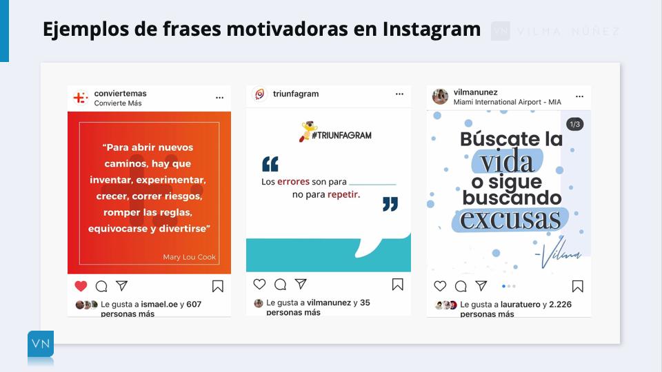 ejemplo frases para Instagram motivadoras