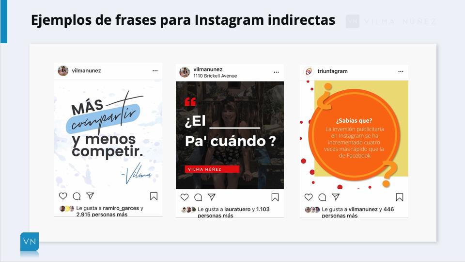 ejemplos frases para instagram indirectas