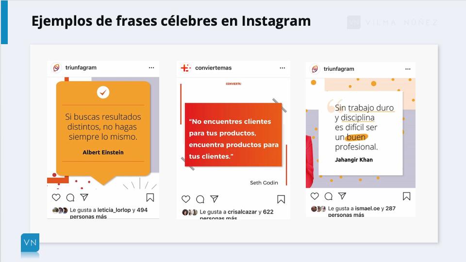 ejemplos frases para Instagram