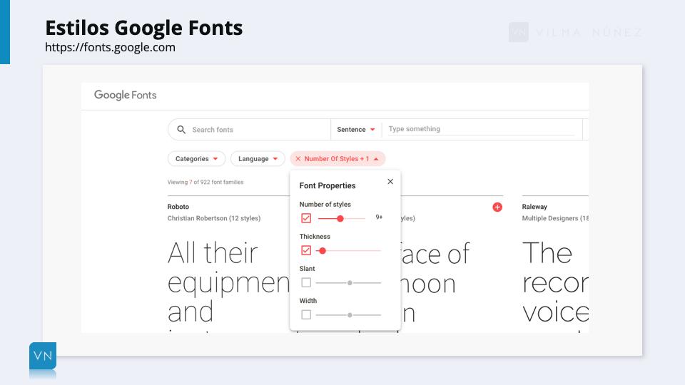 Estilos Google Fonts