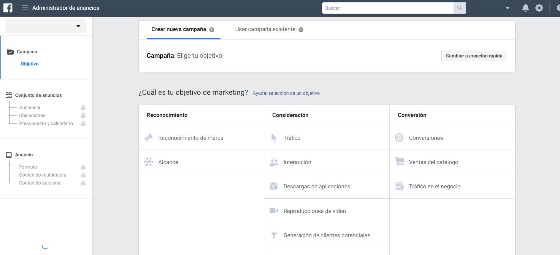 imagen 2 pasos para crear una cuenta de facebook ads