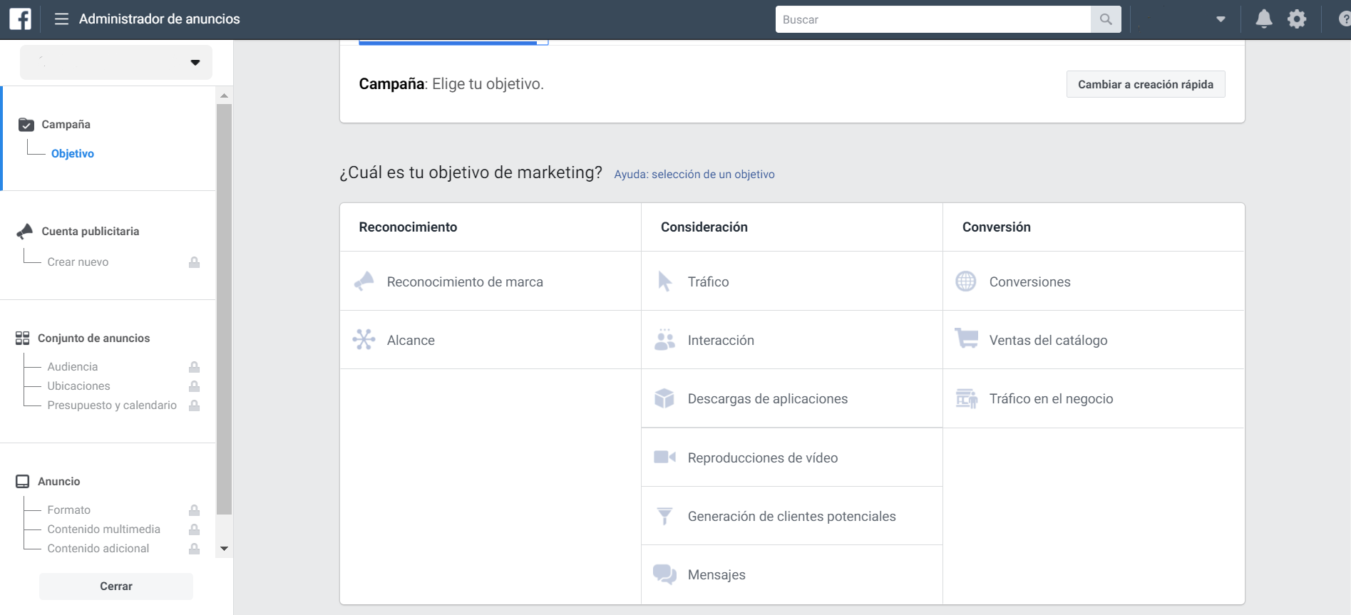 imagen 5 pasos para crear una cuenta de facebook ads