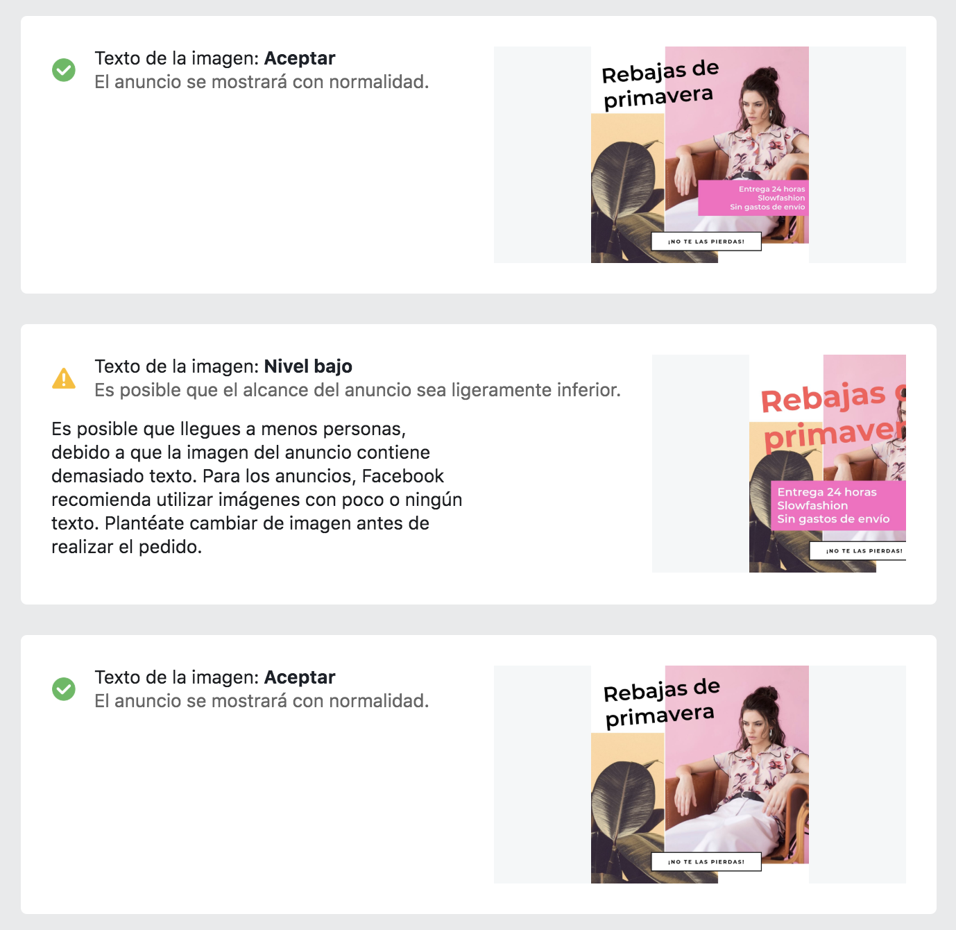imagen de publicidad en Facebook - ejemplos
