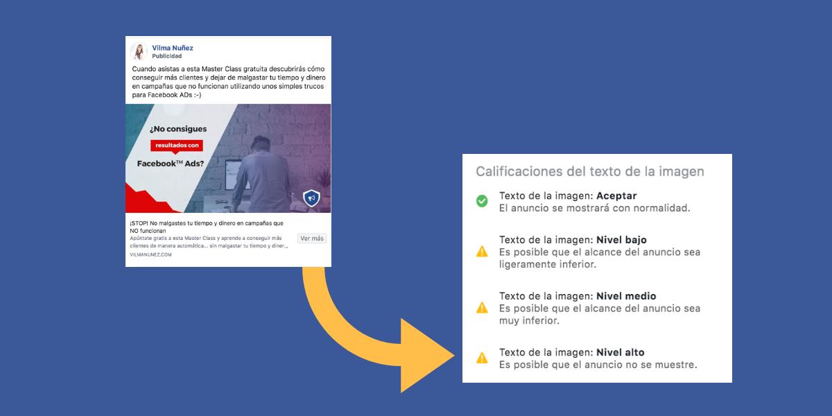Text Overlay Tool - comprobar la imagen de publicidad en Facebook