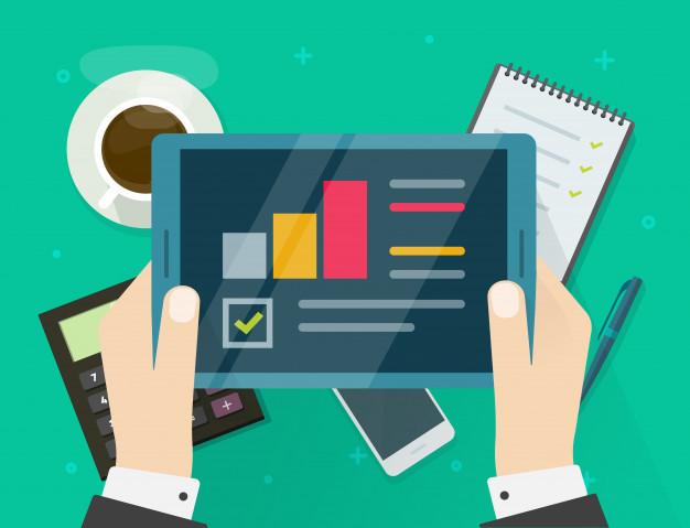 informe-investigacion-auditoria-electronica-tableta-o-persona-que-ve-dibujos-animados-planos-estadisticas-analisis_101884-755