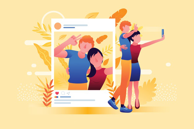 pareja-tomando-selfie-publicar-redes-sociales-ilustrada_52683-24298