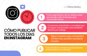 frecuencia de publicación en Instagram